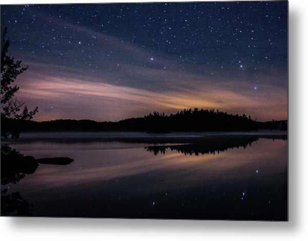 Metal Print featuring the photograph Night Reflections On Pharaoh Lake by Jessica Tabora