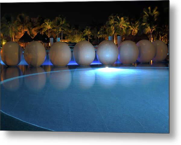Night Resort Metal Print