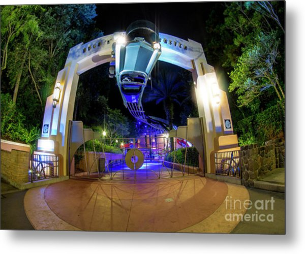 Night Ride On The Rock And Roll Coaster Metal Print