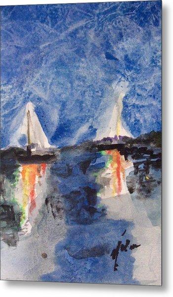 Night Sail  Metal Print