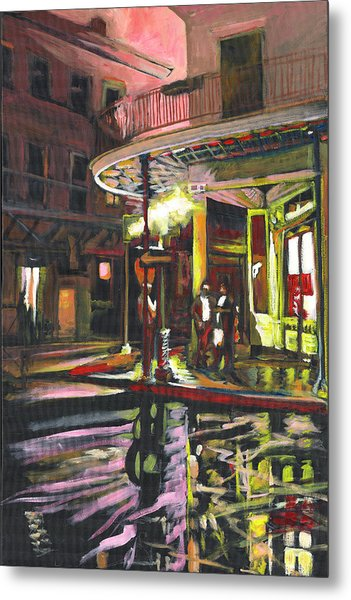 Metal Print featuring the painting Night Shift by Amzie Adams