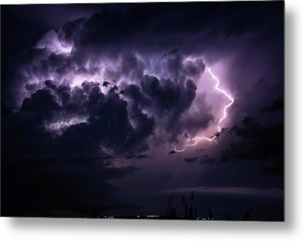 Night Storm Metal Print