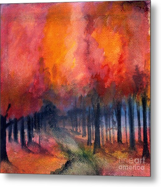 Night Time Among The Maples Metal Print