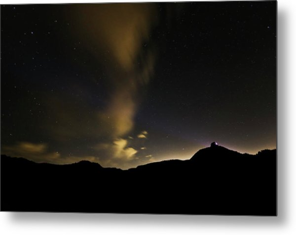 Night Time At Palo Duro Canyon State Park - Texas Metal Print