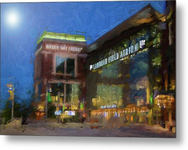 Night Time Lambeau Metal Print