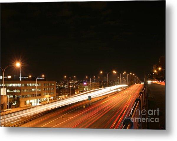 Night Time Traffic Metal Print by Robert Torkomian