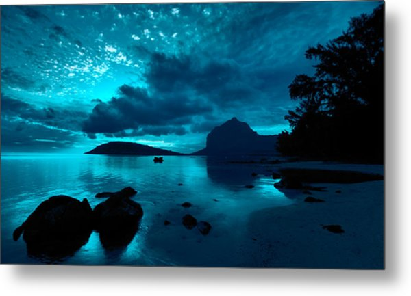 Nightfall Near Le Morne Metal Print