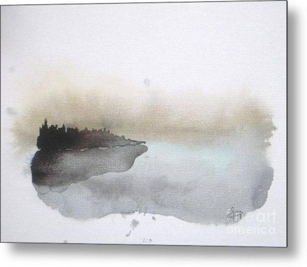Nightfall On The Lake  Metal Print