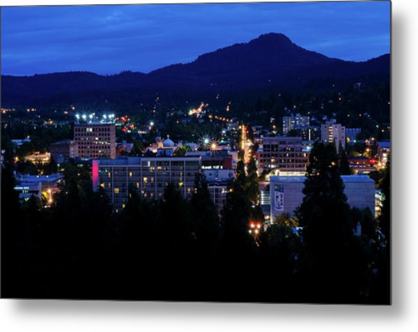 Nightfall Over Eugene Metal Print