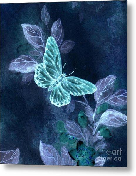 Nightglow Butterfly Metal Print
