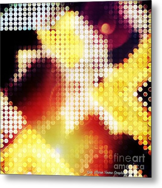 Nightly Cascade Metal Print