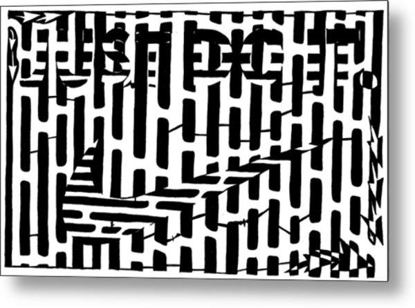 Nike Maze Metal Print by Yonatan Frimer Maze Artist