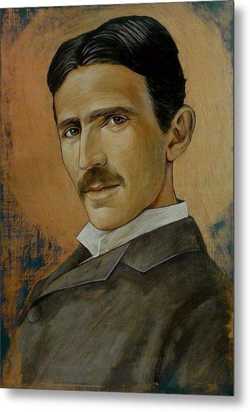 Nikola Tesla Metal Print by Jovana Kolic