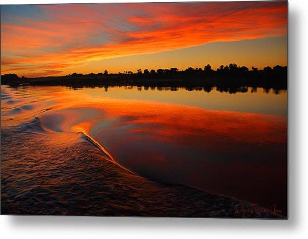 Metal Print featuring the photograph Nile Sunset by Nigel Fletcher-Jones
