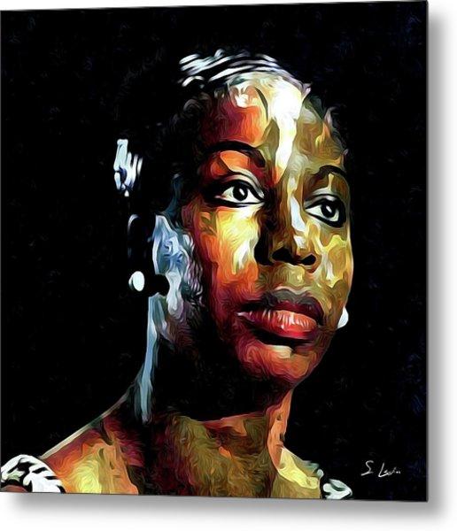 Nina Simone American Singer Metal Print