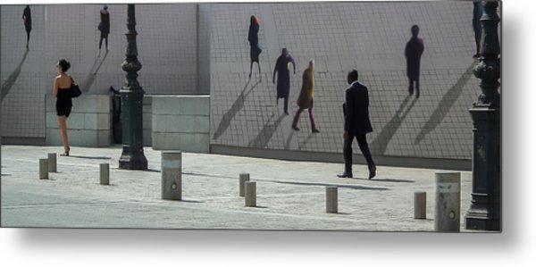 Nine Pedestrians At Place Vendome Metal Print