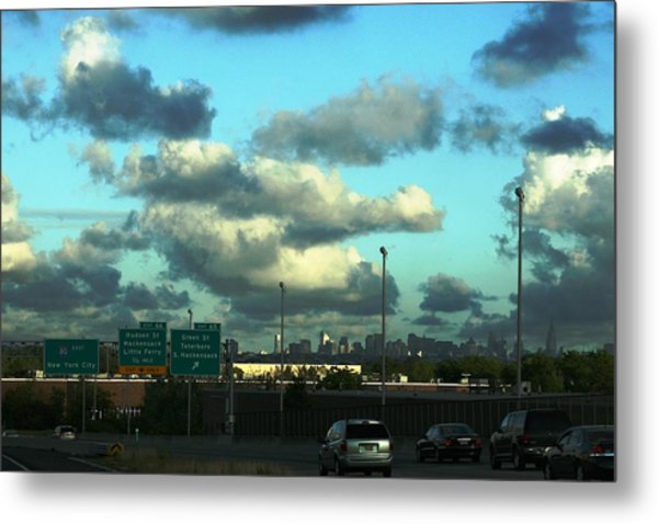 Nj To New York  Metal Print by Paul SEQUENCE Ferguson             sequence dot net
