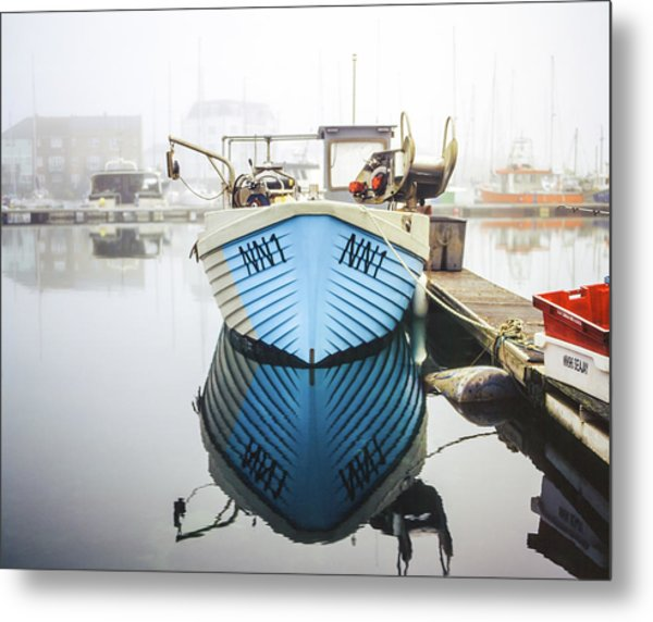 Metal Print featuring the photograph Nn1 Fishing Boat Sovereign Harbour, Eastbourne. by Will Gudgeon