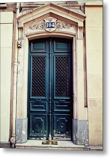 No. 104 - Paris Doors Metal Print