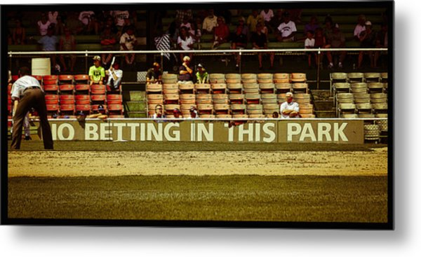 No Betting Poster Metal Print