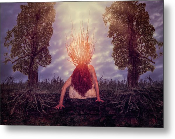 No Earthly Roots Metal Print