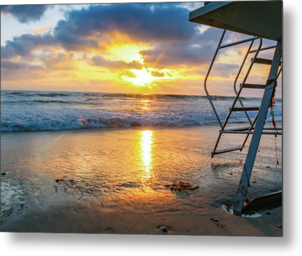 Metal Print featuring the photograph No Lifeguard On Duty by Alison Frank