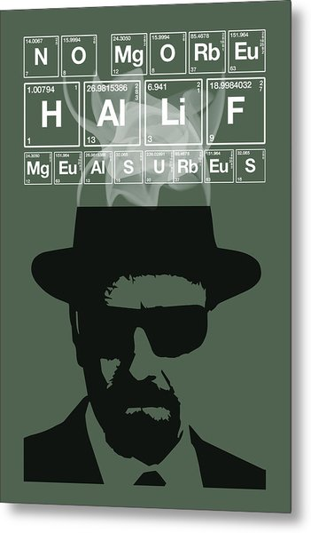 No More Half Measures - Breaking Bad Poster Walter White Quote Metal Print