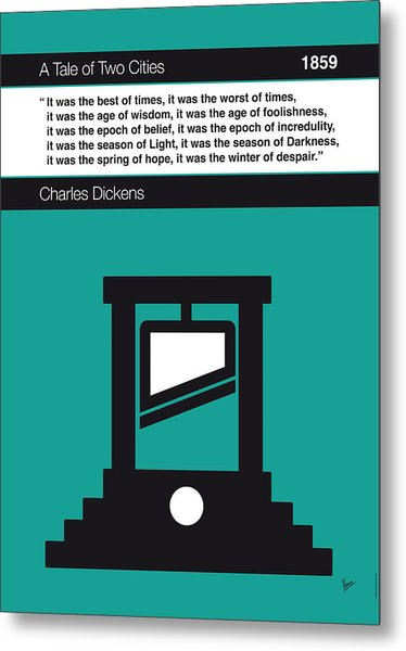 No009 My Tale Of Two Cities Book Icon Poster Metal Print