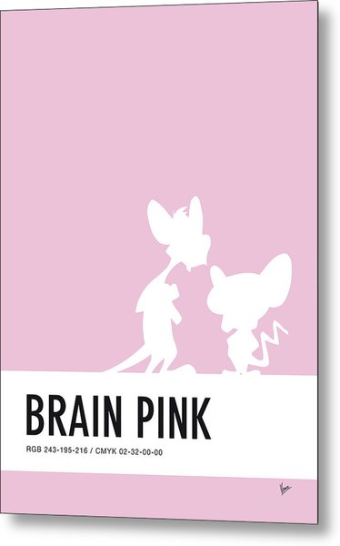 No01 My Minimal Color Code Poster Pinky And The Brain Metal Print