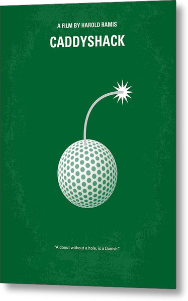 No013 My Caddy Shack Minimal Movie Poster Metal Print