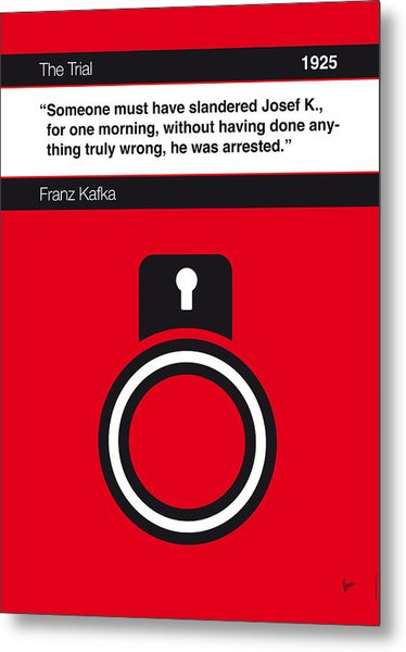 No013-my-the Trial-book-icon-poster Metal Print