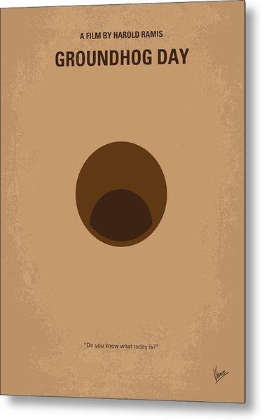 No031 My Groundhog Minimal Movie Poster Metal Print