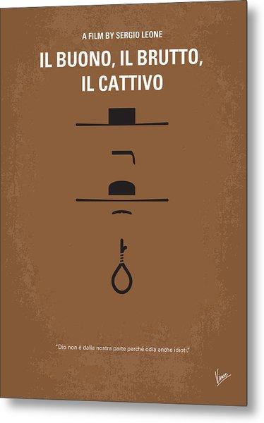 No042 My Il Buono Il Brutto Il Cattivo Minimal Movie Poster Metal Print