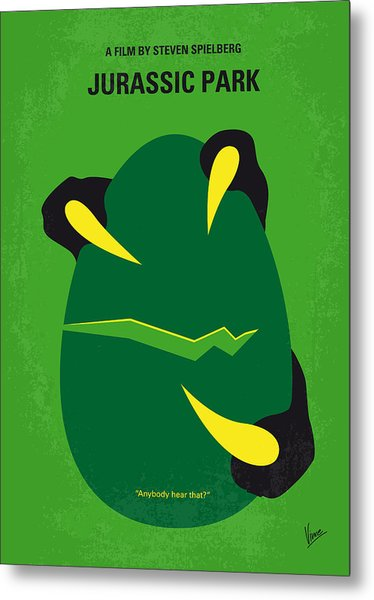 No047 My Jurassic Park Minimal Movie Poster Metal Print