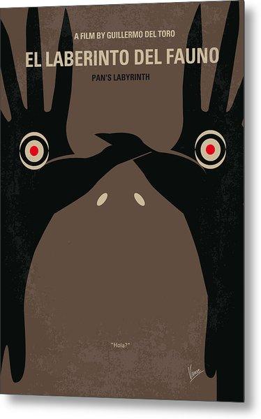 No061 My Pans Labyrinth Minimal Movie Poster Metal Print