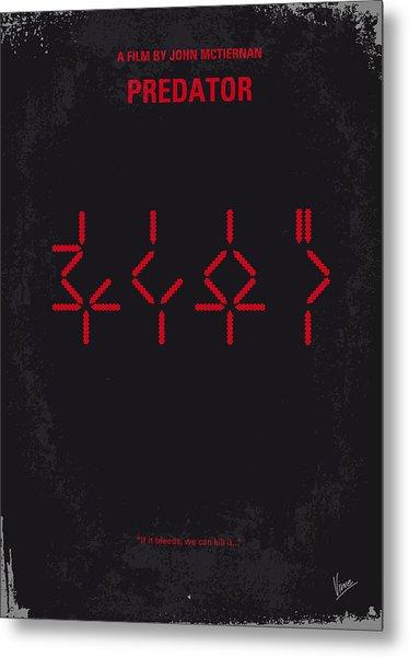 No066 My Predator Minimal Movie Poster Metal Print