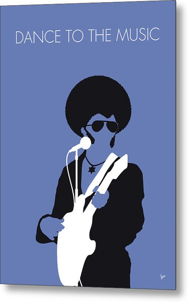 No088 My Sly And The Family Stone Minimal Music Poster Metal Print