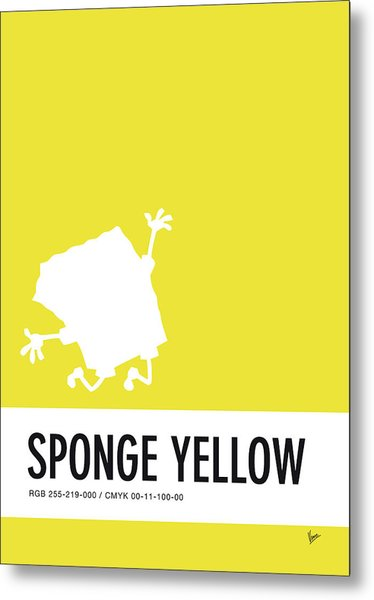 No10 My Minimal Color Code Poster Spongebob Metal Print