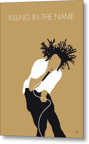 No100 My Rage Against The Machine Minimal Music Poster Metal Print