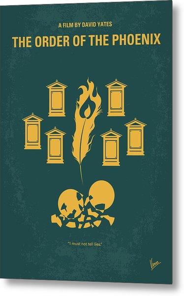 No101-5 My Hp - Order Of The Phoenix Minimal Movie Poster Metal Print