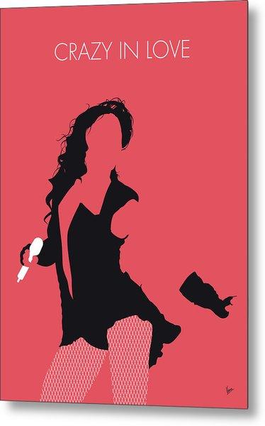 No122 My Beyonce Minimal Music Poster Metal Print