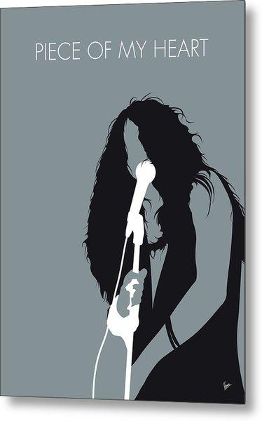 No127 My Janis Joplin Minimal Music Poster Metal Print