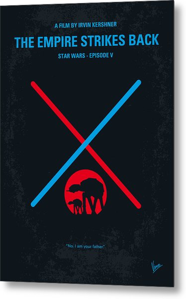No155 My Star Wars Episode V The Empire Strikes Back Minimal Movie Poster Metal Print