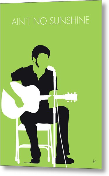 No156 My Bill Withers Minimal Music Poster Metal Print
