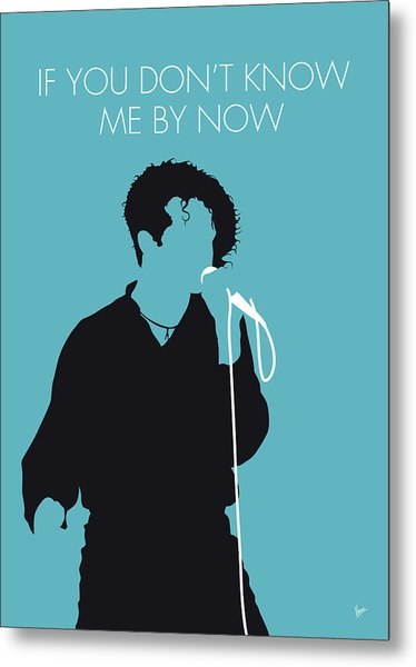 No165 My Simply Red Minimal Music Poster Metal Print