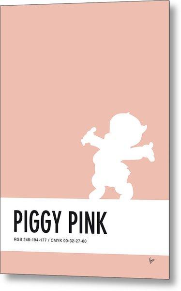 No17 My Minimal Color Code Poster Porky Pig Metal Print