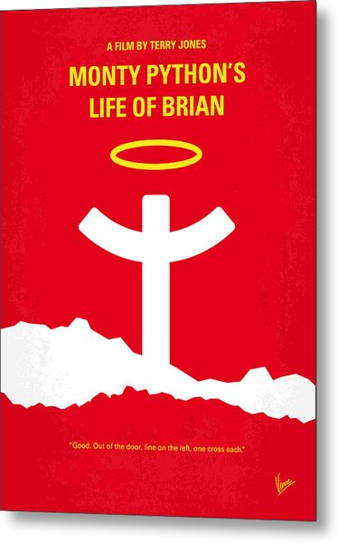 No182 My Monty Python Life Of Brian Minimal Movie Poster Metal Print
