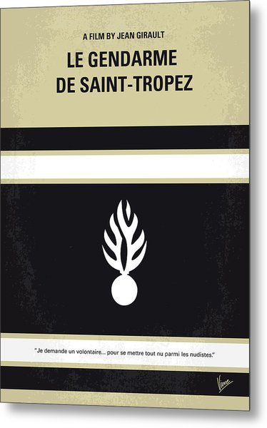 No186 My Le Gendarme De Saint-tropez Minimal Movie Poster Metal Print