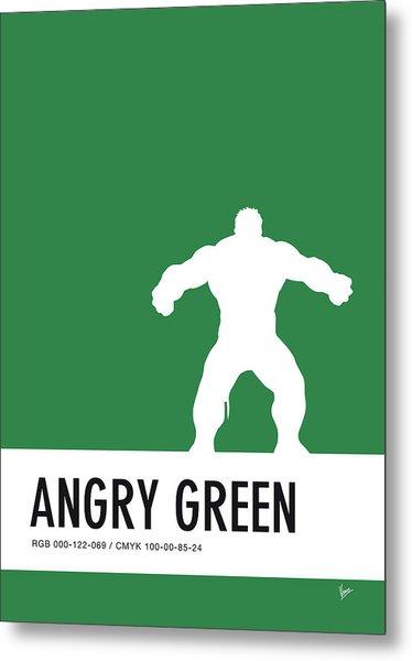 No22 My Minimal Color Code Poster Hulk Metal Print