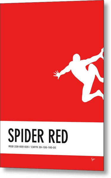 No24 My Minimal Color Code Poster Spiderman Metal Print